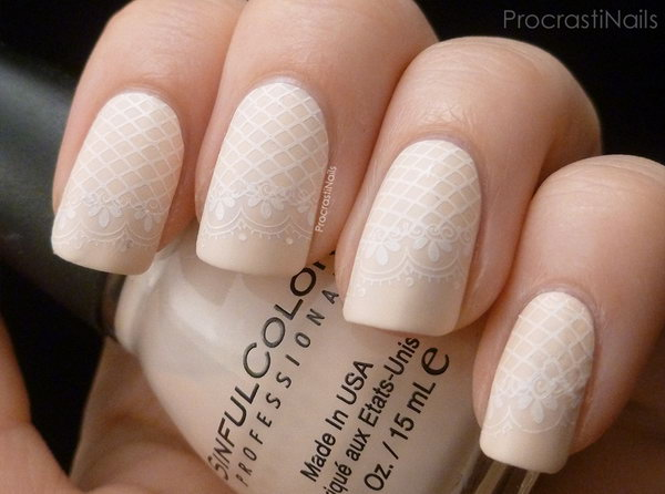 40+ Amazing Bridal Wedding Nail Art for Your Special Day - Noted Li