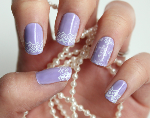 17 Delicate Lace Nail Designs For 2014 | Women's Fashi