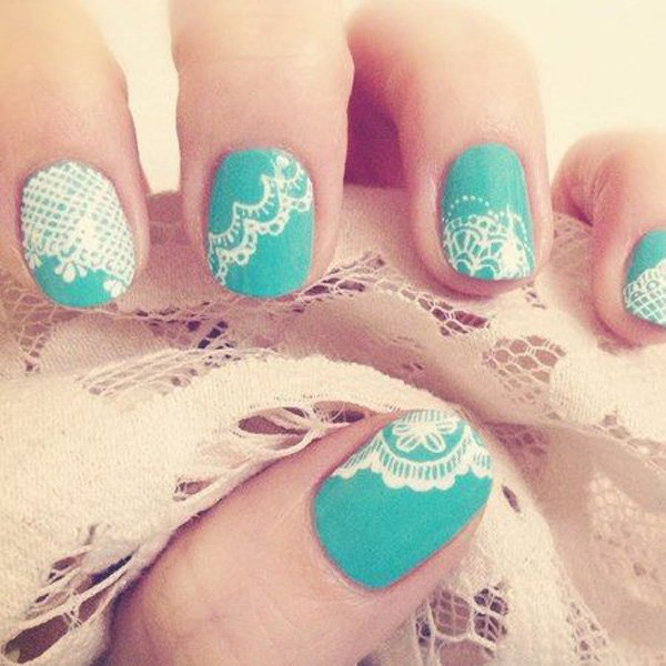 60 Lace Nail Art Designs & Tutorials For You To Get The .