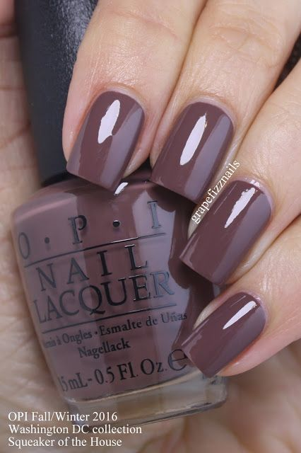 OPI Squeaker of the House is a delicious chocolate brown | Nail .