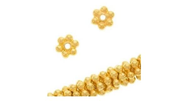Amazon.com: Five Season 4mm 18K Gold Vermeil Bali Daisies Spacers .