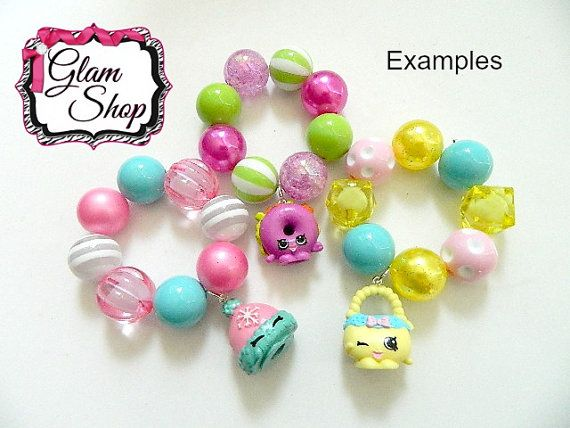 Shopkins Season 4 CINDY BON Bracelet Kits DIY by GlamShopBeads .