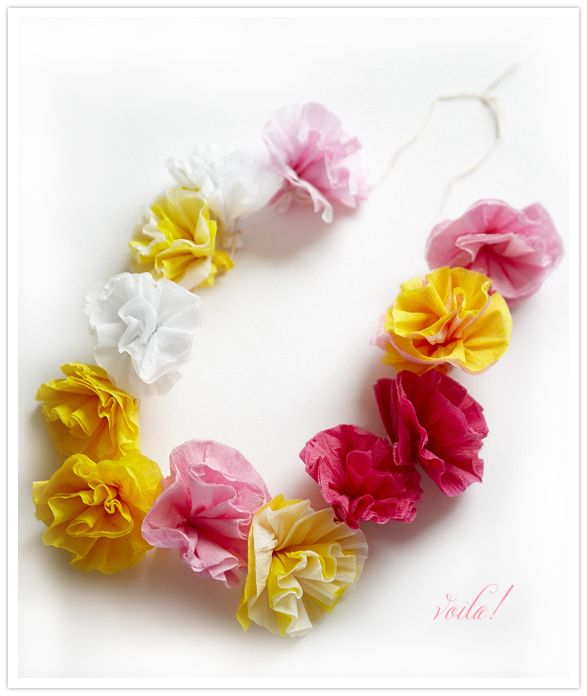 Super easy, fun project that could be used for lei's or could be .