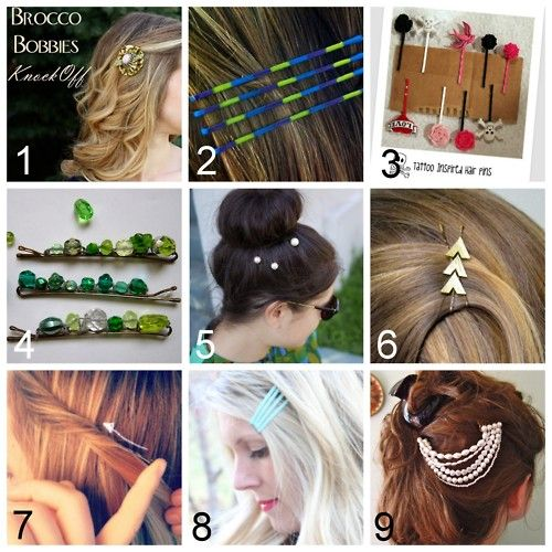 9 DIY bobby pin and hair clip tutorials | Diy hair accessories .