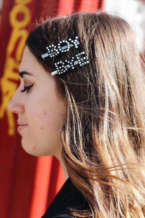 DIY Pearl Letter Barrettes | Diy hair accessories, Pearl letters .