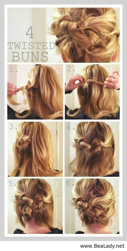 diy step by step hair updo for medium hair | 15 Cute hairstyles .