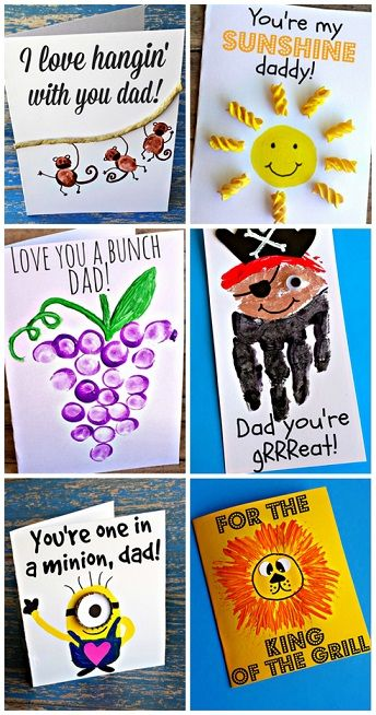 Creative Father's Day Cards for Kids to Make | Fathers day crafts .
