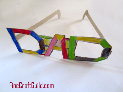 Funky Eyeglasses as DIY Fathers Day Ca