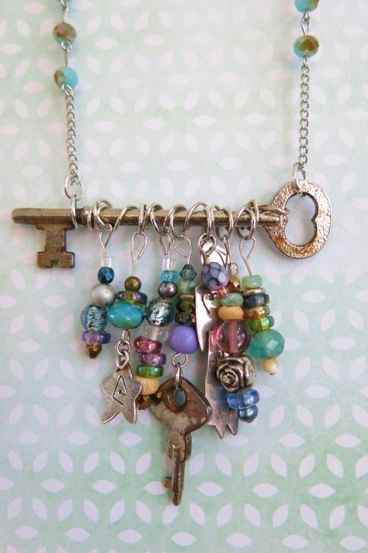 DIY Jewelry Tutorial: How to Make a Necklace with a Skeleton Key .