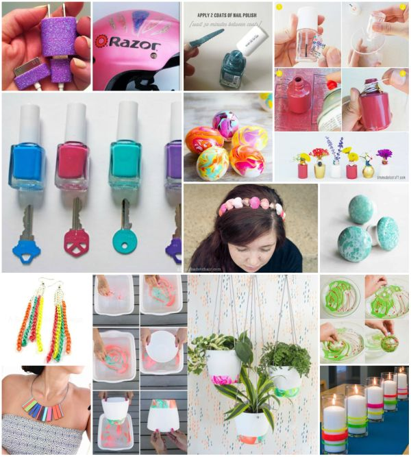 20+ DIY Ideas and Projects With Nail Poli