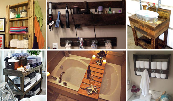 The Best 24 DIY Pallet Projects for Your Bathroom - Amazing DIY .