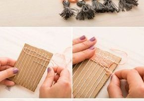 15 DIY Projects for You to Enjoy Winter at Home | Diy weaving .