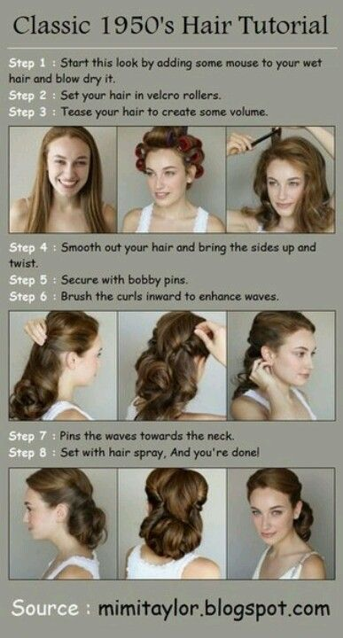 DIY Projects at Home: How to Style Waves | 1950s hair tutorial .