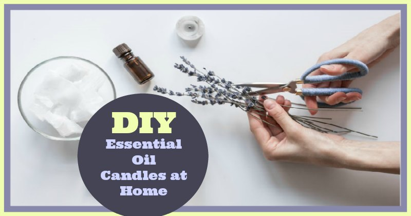 Essential Oils Candle Making at Home DIY Proje