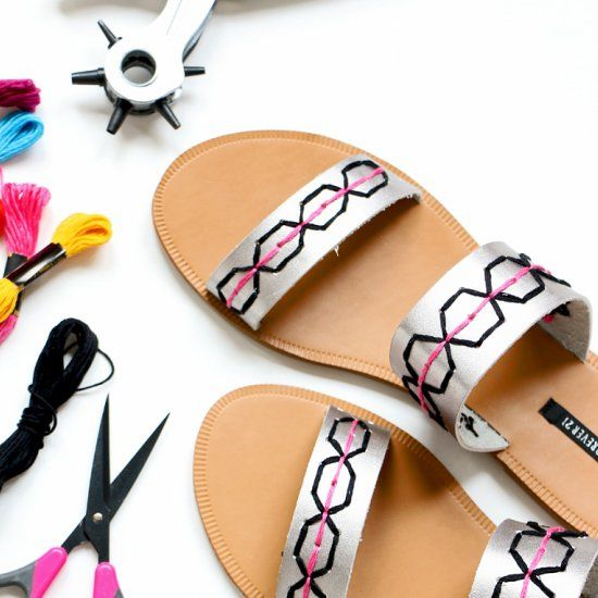 All you need to make over a pair of Summer sandals is a leather .