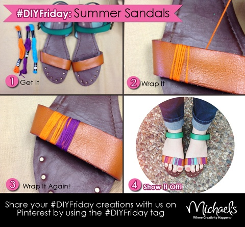 DIY Projects: Pretty Summer Sandals
