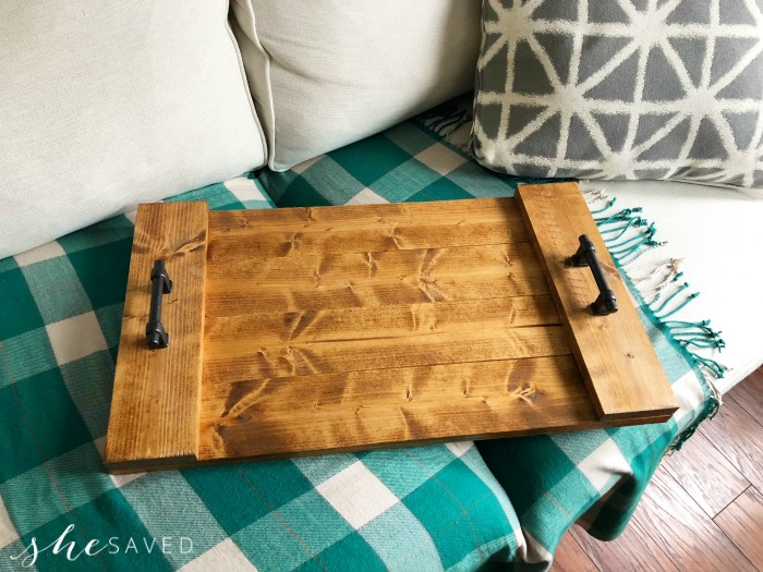 Easy DIY Farmhouse Serving Tray Project - SheSaved