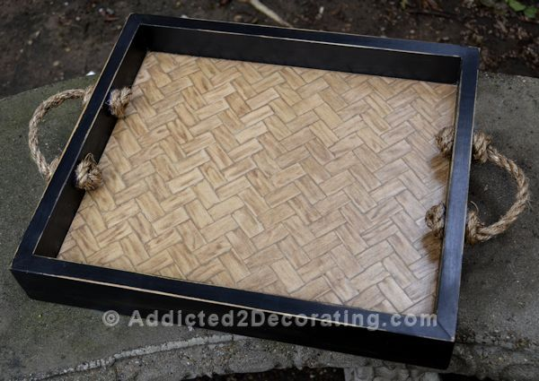 DIY Project: How To Make A Herringbone Serving Tray | Tray, Diy .