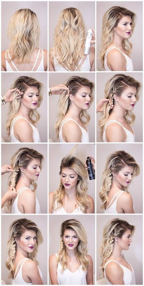 Chic DIY Side Braid in 2020 | Edgy hair, Hair lengths, Medium hair .