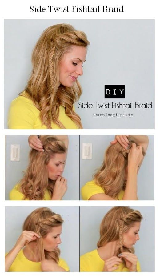 How To Make A Side Twist Fishtail Braid | hairstyles tutorial .