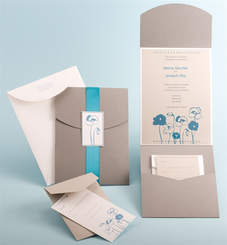 DIY Pocket-fold Wedding Invitation for the NYC DIY Bride, New York .