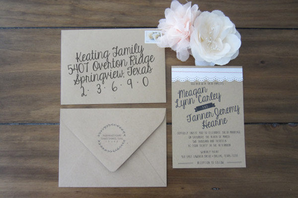 Beautiful Wedding Invitations You Can Make Yourself | BridalGui