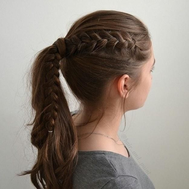 1. Braided Ponytail | Easy Before School Hairstyles For Chic .