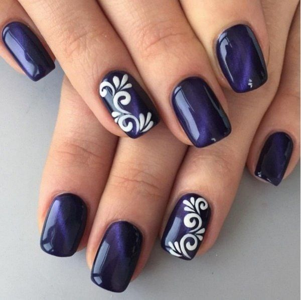 Easy creative ideas for nails for 2017 | Blue nail art designs .