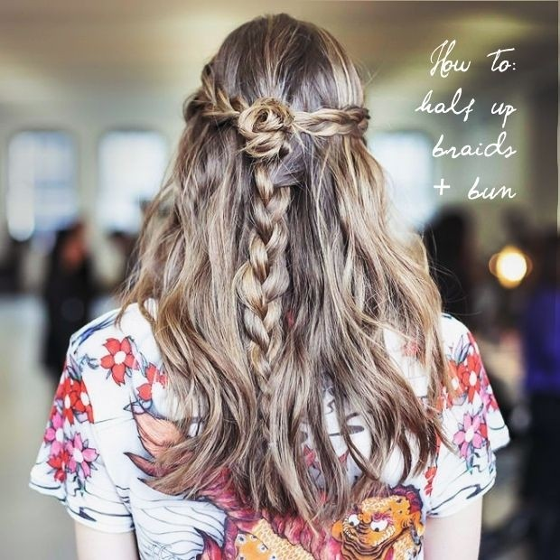 11 Easy and Quick Half Up Braid Hairstyles - Pretty Desig