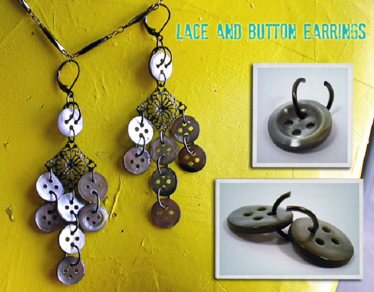 11 Easy DIY Buttons Jewelry Projects: Making Jewelry from Buttons .