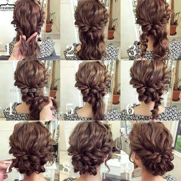 Easy updo for curly hair. Wedding hair. Prom hair…. Easy updo for .