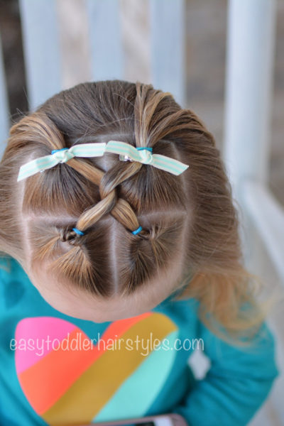 Easy Toddler Hairstyles - Easy and quick toddler hair tutorials .