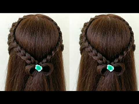 Easy Hairstyles For Outgoing || Easy Hairstyle For Function - YouTu