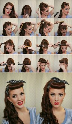14 Super Easy Hairstyles for Your Everyday Look | Retro hairstyles .
