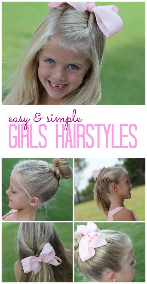 Easy and Simple Girls Hairstyles! DIY Tutorials and Easy Hair Tips .