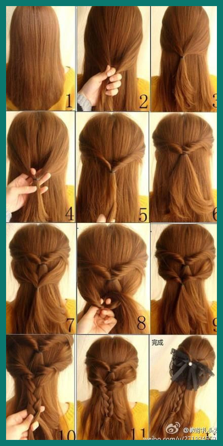 Easy Hairstyles Tutorials 18000 21 Simple and Cute Hairstyle .