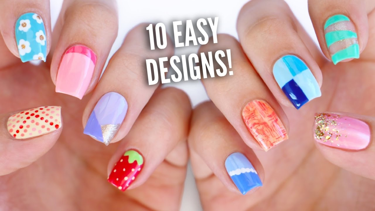 easy nail art designs for beginners - Kampa.luckincsolutions.o