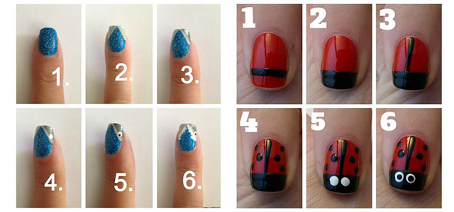 15 Easy Nail Art Tutorials For Beginners & Learners 2014 .