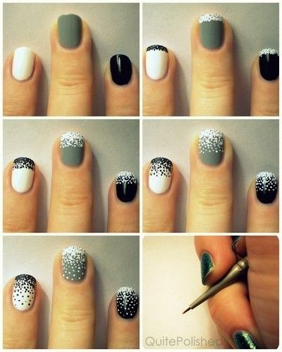 22 Easy Nail Tutorials - Nail Art Tutorials | Simple nails, Diy .