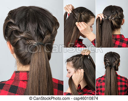 Pony tail hairstyle tutorial. Simple twisted hairstyle tutorial .