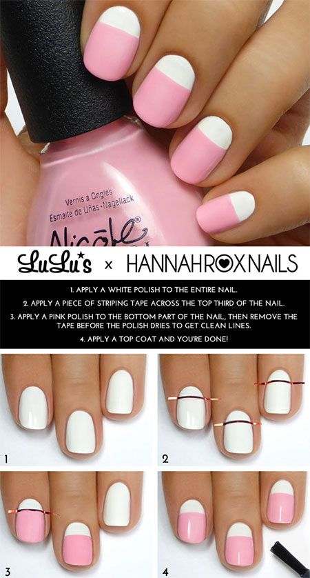 25 Easy Step by Step Nail Tutorials for Girls - Pretty Desig