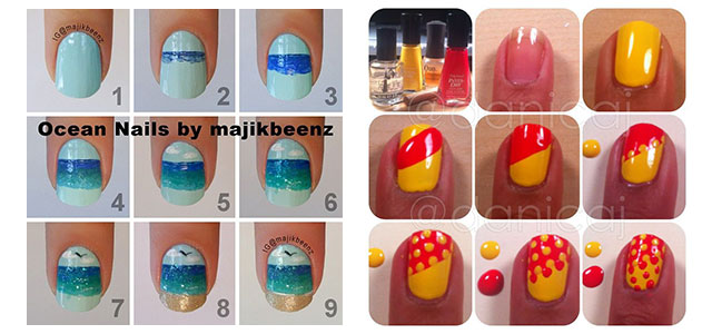 25 Easy Step By Step Nail Art Tutorials For Beginners & Learners .