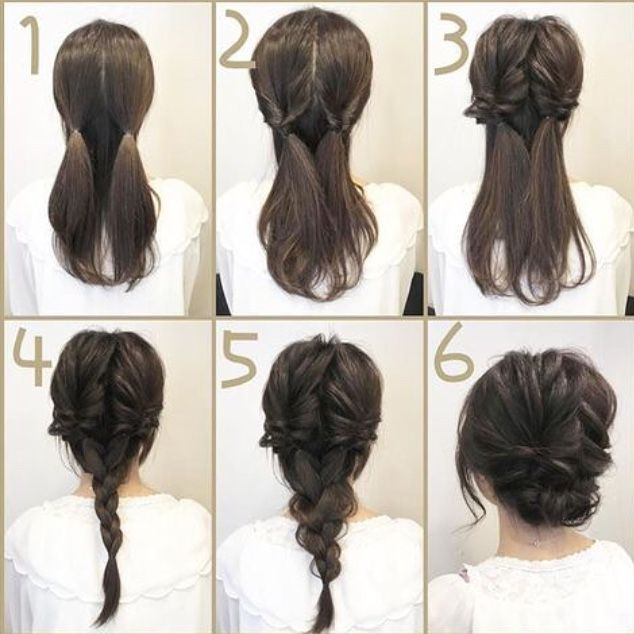 Peinados | Braided hairstyles updo, Medium hair styles, Up dos for .