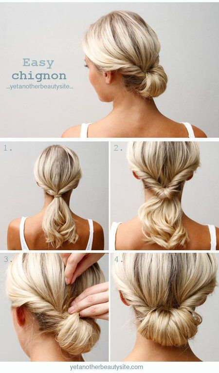 Updo Hairstyle Tutorials For Medium-Length Hair | Hair styles .