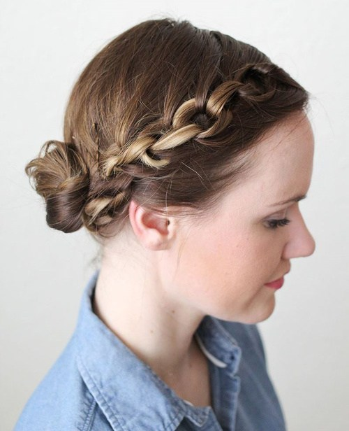 20 Easy Updos For Medium Ha