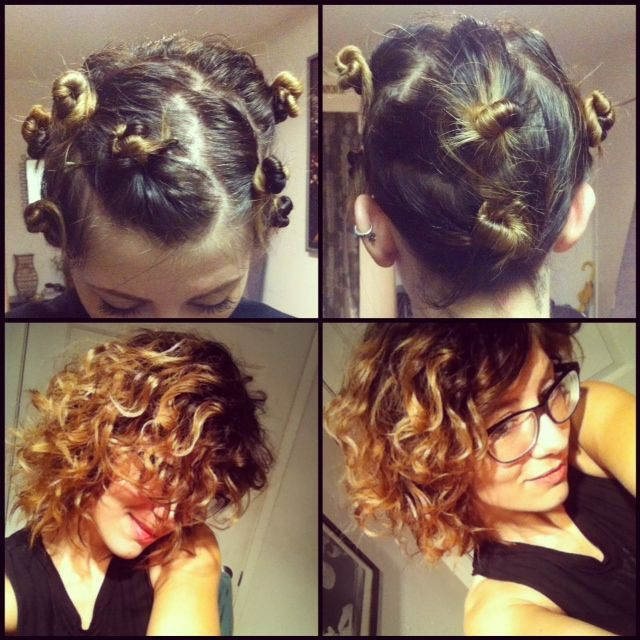 easy overnight hair curling for short hair   ... Natural Curls! I .