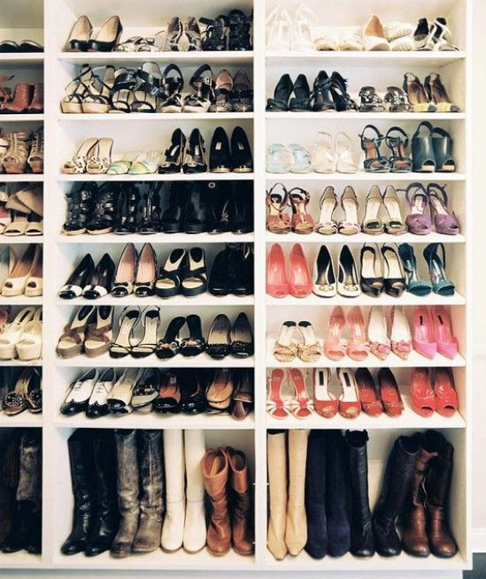 10 Clever and Easy Ways to Organize Your Shoes | Cheap bookcase .