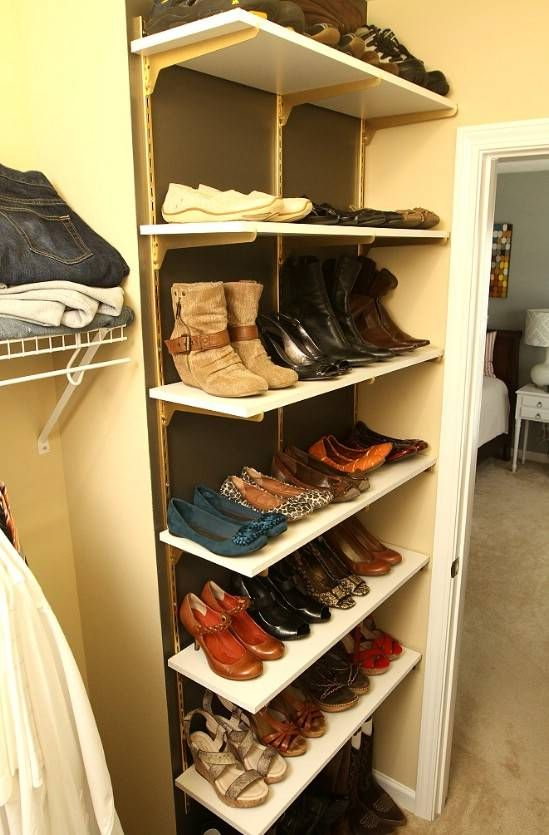 10 Clever and Easy Ways to Organize Your Shoes | Shoe rack closet .