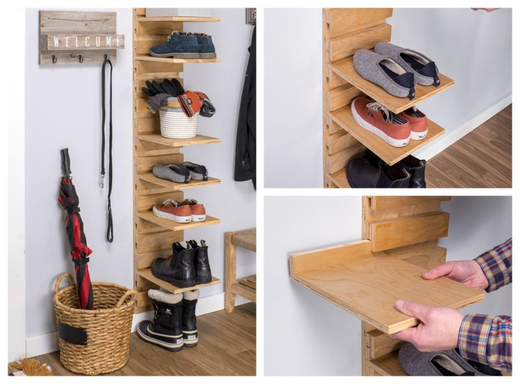 21+ Easy and Cheap DIY Shoe Rack Ideas - Simplyho
