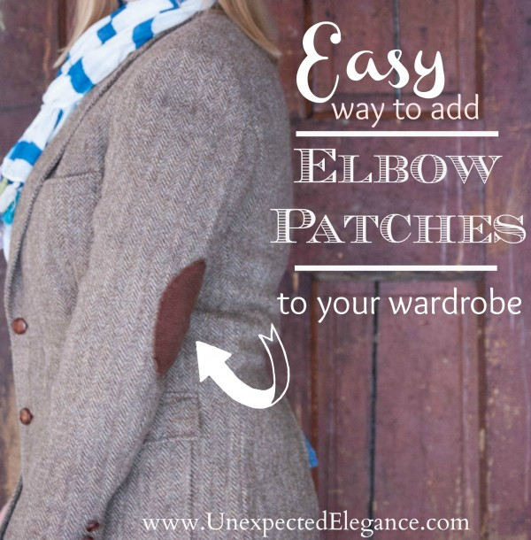 Easy Way to Add Elbow Patches to Your Wardrobe | Unexpected Elegan